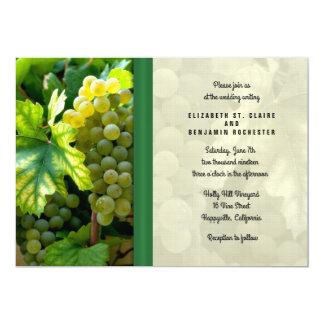 Wedding an der Weinberg-Einladung Karte