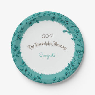 WEDDING-ANNIVERSARY-CLASSIC-CELEBRATION-TEMPLATE PAPPTELLER 17,8 CM