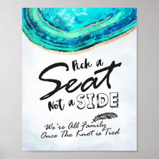 Wedding Auswahl ein Sitz nicht ein aquamariner u. Poster