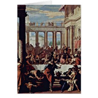 Wedding bei Cana durch Sebastiano Ricci Grußkarte