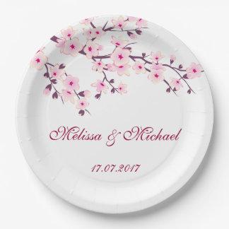 Wedding Blumenkirschblüten Pappteller