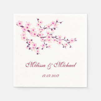 Wedding Blumenkirschblüten Servietten