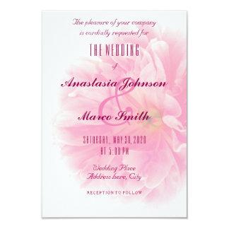 Wedding Brautblumenpfingstrosen-Blumechic-Karte 8,9 X 12,7 Cm Einladungskarte