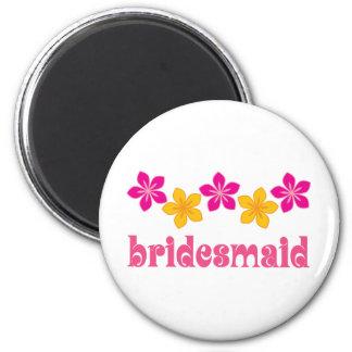 Wedding Brautjungfern-hawaiische tropische Blumen Runder Magnet 5,1 Cm