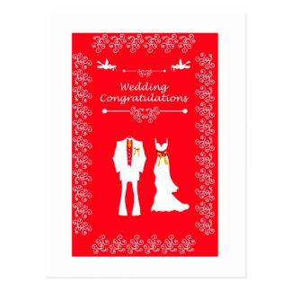 Wedding Brautkarte mit Paarmannfrau entwerfen e Postkarte