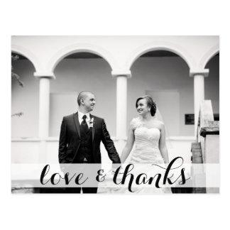 Wedding danke Postkarte, Liebe u. Dank Postkarte