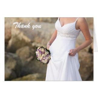 Wedding danken Ihnen Anmerkungs-Karte Karte