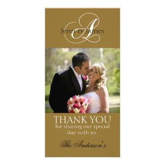 Wedding danken Ihnen Braut-Bräutigam-Foto-Karten Bildkarte