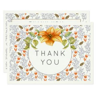 Wedding danken Ihnen die Blumen Karte