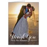Wedding danken Ihnen Foto-Anmerkungs-Karte Mitteilungskarte