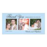 Wedding danken Ihnen Foto-der Karte in des Blau-dr