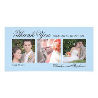 Wedding danken Ihnen Foto-der Karte in des Photo Grußkarte