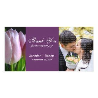 Wedding danken Ihnen Foto-Karte Bild Karte