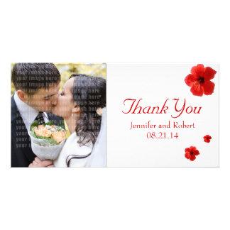 Wedding danken Ihnen Foto-Karte Photokartenvorlagen