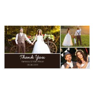 Wedding danken Ihnen Foto-Karte Personalisierte Foto Karte