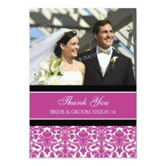 Wedding danken Ihnen Foto-Karten-heißes Rosa-Damas Ankündigungskarte