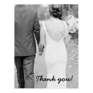 Wedding danken Ihnen Foto-Postkarte Postkarte