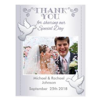 Wedding danken Ihnen Foto-Postkarten-Liebe-Vögel Postkarte