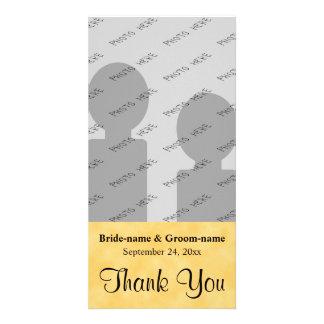 Wedding danken Ihnen Gelb und Schwarzes Photokarte