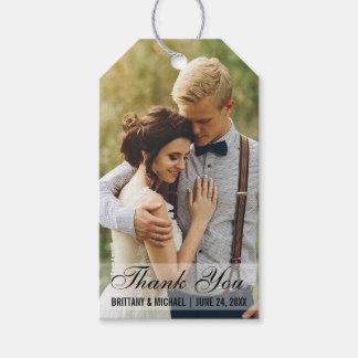 Wedding danken Ihnen Geschenkanhänger