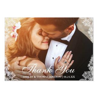 Wedding danken Ihnen, GrenzFoto euch zu schnüren Karte