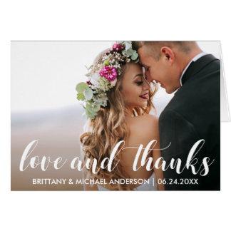 Wedding danken Ihnen | Liebe und danken Karte