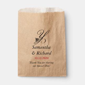 Wedding danken Ihnen Monogramm Y Geschenktütchen