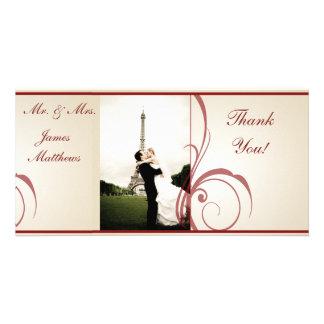 Wedding danken Ihnen Photo Karte