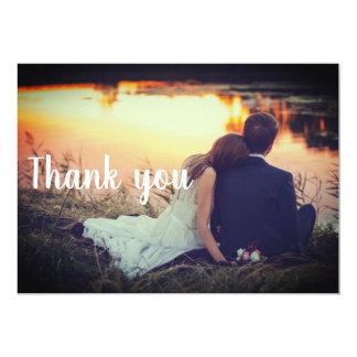 Wedding danken Ihnen Postkarte - Paar durch das Karte