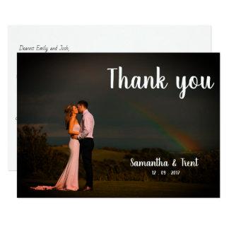Wedding danken Ihnen Postkarte - Regenbogen Karte