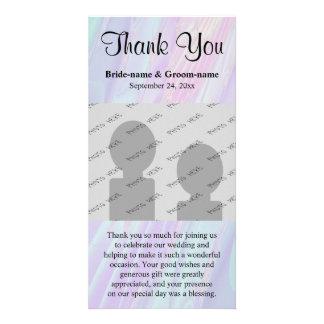 Wedding danken Ihnen. Seashell-Art-Muster Photo Karte