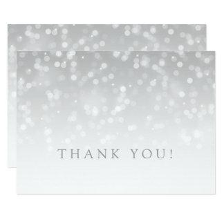 Wedding danken Ihnen, silberne Bokeh Karte