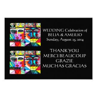 Wedding danken Ihnen - Tag der Toten zu merken Individuelle Einladungskarte