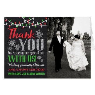 Wedding danken Ihnen Weihnachtskarte Karte