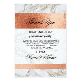 Wedding danken Ihnen, weißes MarmorRosen-Gold zu 8,9 X 12,7 Cm Einladungskarte
