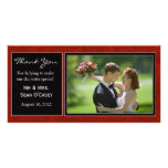 Wedding danken Ihnen zu kardieren Bilderkarte