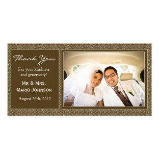 Wedding danken Ihnen zu kardieren Photokartenvorlage