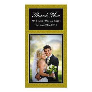 Wedding danken Ihnen zu kardieren Fotokarte