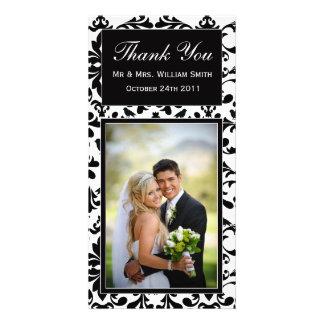 Wedding danken Ihnen zu kardieren Photo Karten Vorlage