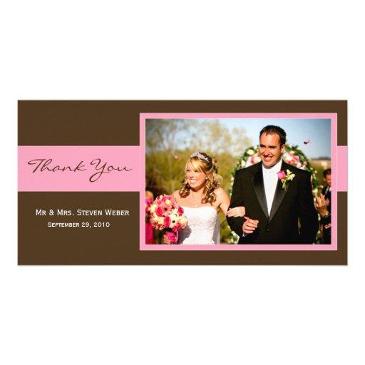Wedding danken Ihnen zu kardieren Individuelle Foto Karten