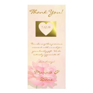 Wedding danken Karten-Blumen-Sammlungs-weich Rosa Werbekarte
