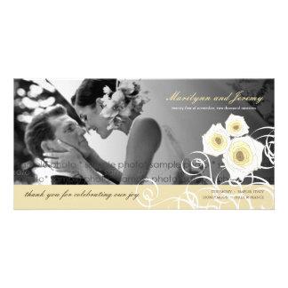 Wedding der SahneRosen-Wirbel dankt Ihnen Foto-Kar