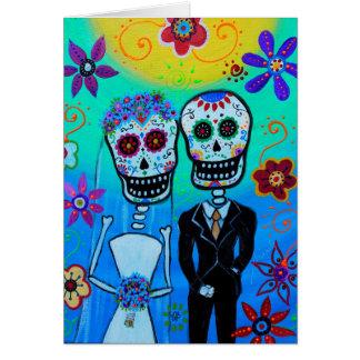Wedding Dia de Los Muertos durch Prisarts Karte