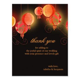 Wedding die Abends-Garten-Papierlaternen danken Karte