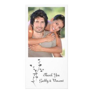 Wedding die Schwarzweiss-Rosen danken Ihnen Bild Karte