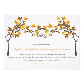 Wedding Fall-laden die Herbst geknoteten 12,7 X 17,8 Cm Einladungskarte