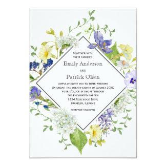 Wedding Geheimnis-Garten rustikale Boho Wildblumen Karte