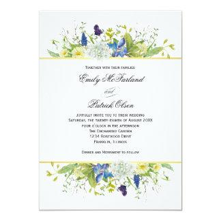 Wedding Geheimnis-Garten-rustikale Wildblumen Karte