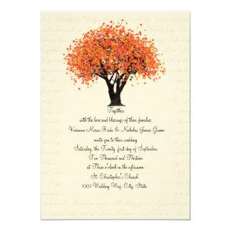 Wedding Herbst-Baum-Tanzen-Blüte 12,7 X 17,8 Cm Einladungskarte
