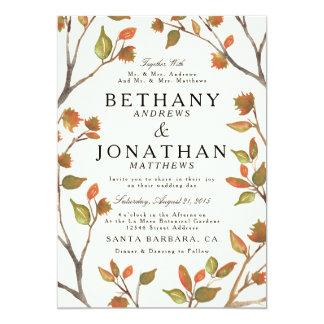 Wedding Herbst-Bäume 12,7 X 17,8 Cm Einladungskarte